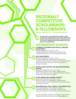 Information Sessions on Nationally Competitive Scholarships @ EKU