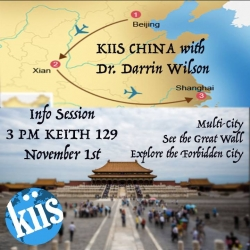 Info Session about Studying Abroad Summer 2017 on KIIS - China with EKU Professor, Dr. Darrin Wilson!