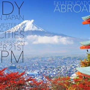 Information Session on EKU's Programs in Japan—Thursday, September 21, 3:30 PM,