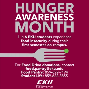 Asian Studies Is a Proud Partner of EKU's 3rd Annual Hunger Awareness/Food Drive