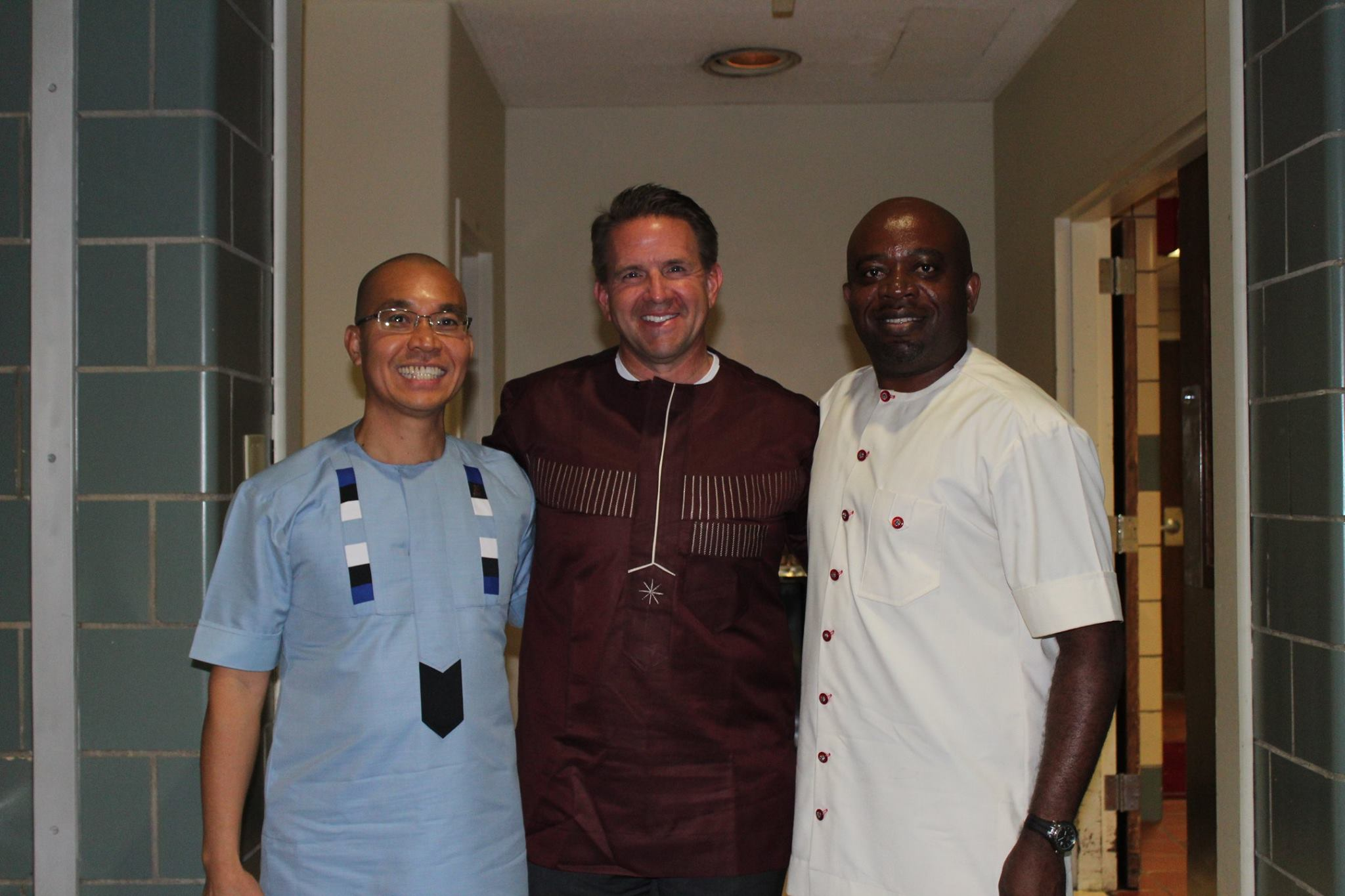 With President Michael Benson and Dr. Ogechi Anyanwu, Director of African/African American Studies Program